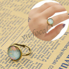 Vintage Globe Ring World Map Pattern Glass Dome Ring Women Handmade Jewelry