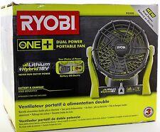 NEW Ryobi DUAL POWER 18v / 120v Portable Fan P3320 FREE SHIP Use P100 P108 &More