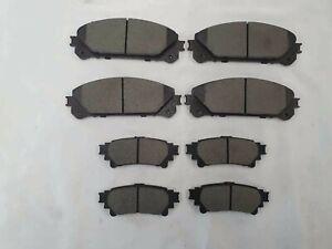 Front & Rear Ceramic Brake Pads Set for Lexus RX350, RX450H, Toyota Highlander