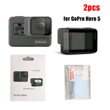 2pcs Lens LCD Screen Protector Dustproof Protective Film For GoPro Hero 5 Black