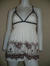 FREE PEOPLE ANTHROPOLOGIE NAUTICAL BABYDOLL CUTE TANK TOP STRAPPY BACK SMALL $58
