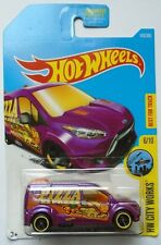 2017 Hot Wheels HW CITY WORKS 6/10 Ford Transit Connect 143/365 (Purple Version)