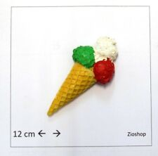 SET DA 12 PEZZI Calamita Magnete Frigo Fridge Magnets  Ice Cream CONO GELATO TRI
