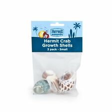 FLUKER'S HERMIT CRAB SMALL SHELLS  STYLES VARY 3PK FREE SHIPPING IN THE USA ONLY