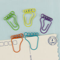 12PCS Cute Feet Shape Bookmark Clip Office Stationery Foot Metal Bookmarks HOT