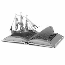 Fascinations Metal Earth Moby Dick Book Sculpture 3D Laser Cut Model Kit MMS116