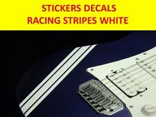 RACING STRIPES WHITE STICKER VISIT OUR STORE WITH MANY MORE MODELS PARA GUITARRA