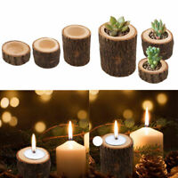 1Pcs Wooden Candle Holder Stand Candlestick for Rustic Wedding Party Home Decor