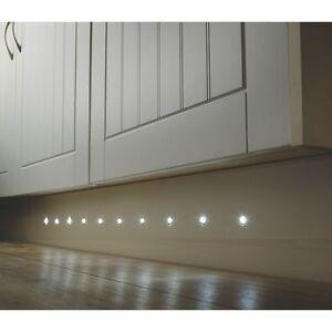 10 x LED 17mm Round Garden Decking Deck Kitchen Plinth Lights Lighting Kit