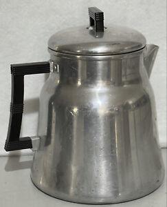 Vintage Wear-Ever Percolator Coffee Pot Aluminum Bakelite Handles #3016