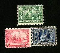US Stamps # 328-30 Set of 3 Fresh OG NH Catalog Value $440.00