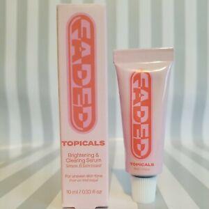 Topicals FADED Serum For Dark Spots & Discoloration Trial/Travel 10ml/.33oz NIB