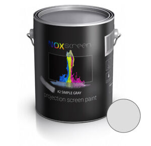 NOXscreen projector projection screen paint #2 Simple gray