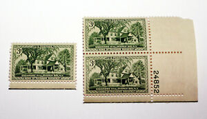 Sagamore Hill Oyster Bay New York Home of Theodore Roosevelt 3 cent Stamps