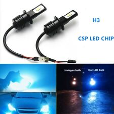 H3 Csp Led Headlights Fog Light Bulbs Kit 55W 8000Lm 8000K Blue Super Bright (Fits: Subaru)