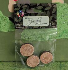 Miniature Garden Tree Wood Look Stepping Stones Fairy Gnome Garden Set of 3