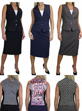 Calf Length Polyester Skirt Suits for Women