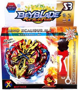 ☆ TOUPIE  BEYBLADE  BURST Xeno Xcalibur / Excalibur + lanceur  & Grip B-48  ☆