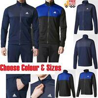 Adidas Mens Top Bottoms Jacket Pants Full Tracksuit Sports Gym Size S M L XL 2XL