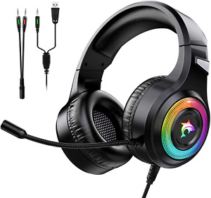Micro Casque Gaming  Anti Bruit  PS4 PC XBOX LED Jeux-vidéo Gamer Stereo