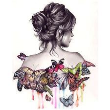 DIY À faire Soi-Même Belle Fille Papillon Digital Peinture à L'huile Toile Décor