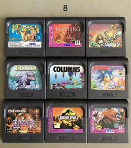 Sega Game Gear Games Bundle