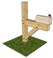 Timber Frame Mailbox Post Plan