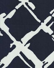 Robert Allen Tidal Bay Fabric Navy & White 100% Cotton By The Yard