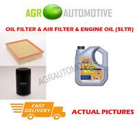 PETROL OIL AIR FILTER KIT + LL 5W30 OIL FOR AUDI A4 1.8 125 BHP 1994-01