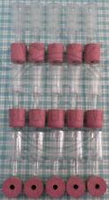15 Two Piece Handy Airlocks & 15 Bored Rubber Demijohn Bungs Safe Fermentation