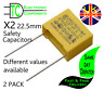 X2 Safety Capacitors 22.5mm Pitch (Different values available) 2 PACK *UK Stock*