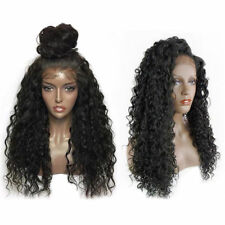 Brazilian Soft Long Curly Full/front Lace Full Wig Human Hair Heat Resistant