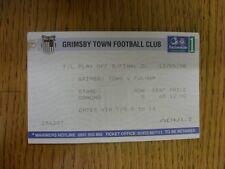 13/05/1998 BIGLIETTO: play-off semi-finale Divisione 1, Grimsby Town V Fulham (Light