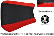 Personalizado de vinilo negro y rojo se adapta a Honda CBR 600 F 01-03 Cubierta de asiento solamente