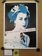 "DEATH NYC sérigraphie ""QUEEN BLUE"" sign-num  -Banksy/space invader/fairey/cope2"
