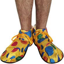 Amarillo Spotty Suave Tela Payaso Zapatos fancydress Accesorio