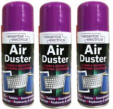 3 x Compressed Air Duster Spray Blower Cleaner Laptop Keyboard Mouse Electronics
