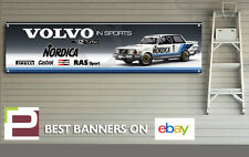 VOLVO 240 TURBO NORDICA Banner per officina, garage, Pit Lane, bttc, grandi dimensioni