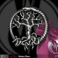 Echt etNox Snake Tree Anhänger Silber Gothic Schmuck - NEU