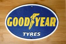 Goodyear Tyres Sign 33cm Retro Cast Iron Wall Plaque Garage Workshop