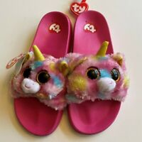 Ty Beanie Babies House Shoes Beanie Boo's Collection Fantasia Slippers Size 4/5