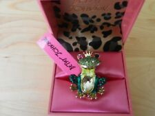BETSEY JOHNSON  GARDEN PARTY FROG Stretch Ring    Msrp $65