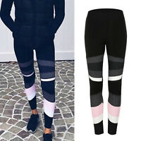 New Womens Waist Yoga Fitness Leggings Running Gym Stretch Sports Pants Trousers