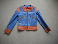 VTG 1960s Two-Tone Ziggy Stardust Era By Appointment Glam Rock Leather Jacket