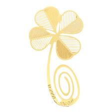 Gold Klee Lesezeichen Blatt Metall Geschenk Mitbringsel Buch Lese verschiedene F