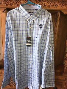 Men's Big & Tall IZOD Premium Essentials Natural StretchCotton Button Shirt 2XLT