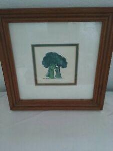 Vintage Kitchen Decor Framed Picture Of Dancing Broccoli
