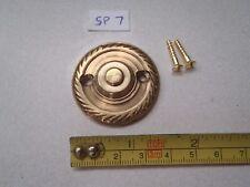 A SOLID BRASS ROPE EDGED DOOR KNOCKER STRIKER PLATE 38 mm DIAMETER  (ref) SP 7