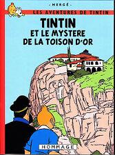 HOMMAGE A HERGE  TINTIN ET LE MYSTERE DE LA TOISON D'OR INTEGRALE COULEURS TBE