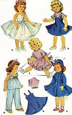 Vintage Doll Clothes Pattern 1983 for 16 18 inch Sweet Sue Toni by Alexander